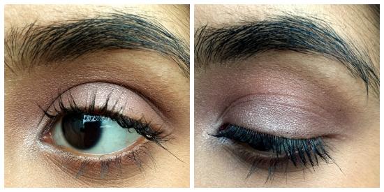 finished plum eye makeup