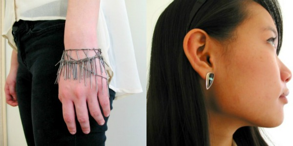 McGill University fashion - layered bracelet and earrings