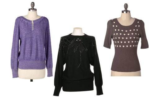 Vintage-inspired sweaters