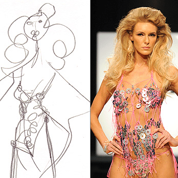 Emilio Sosa's metal bathing suit from Project Runway's hardware store challenge