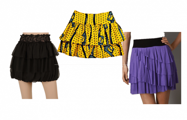 Tiered 80's Skirts