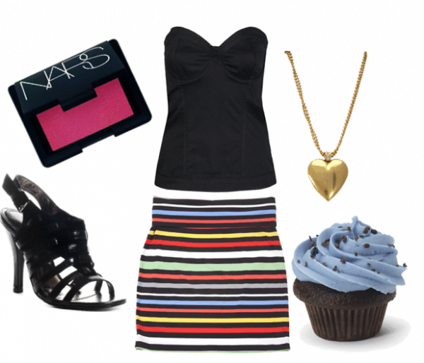 Striped birthday outfit