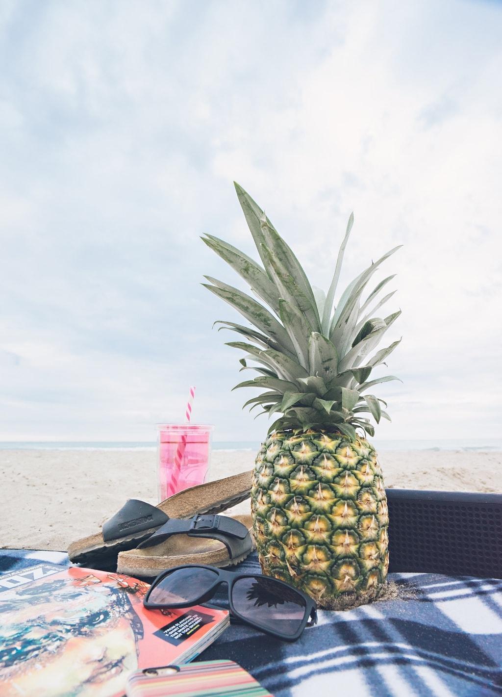 Pineapple on the beach: Summer fun
