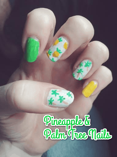 pineapple palm nails text