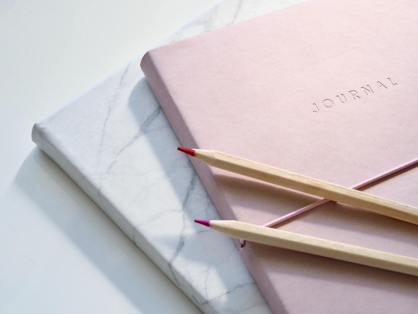 pink-and-marble-journal