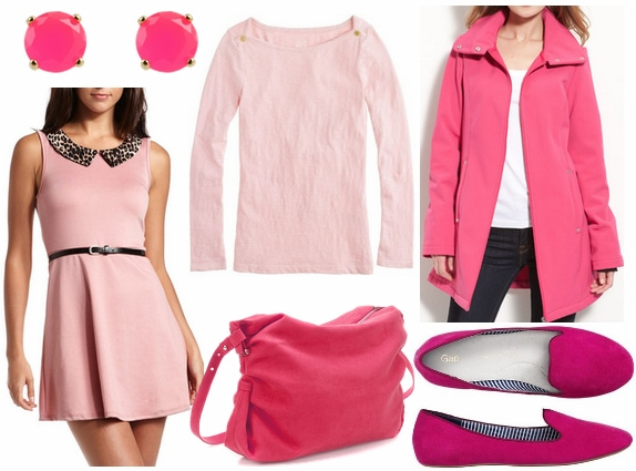 Pink clothes accessories