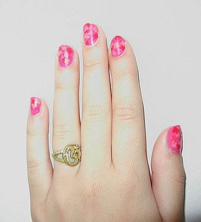 Floral nail art inspired by the Giambattista Valli Spring 2012 florals