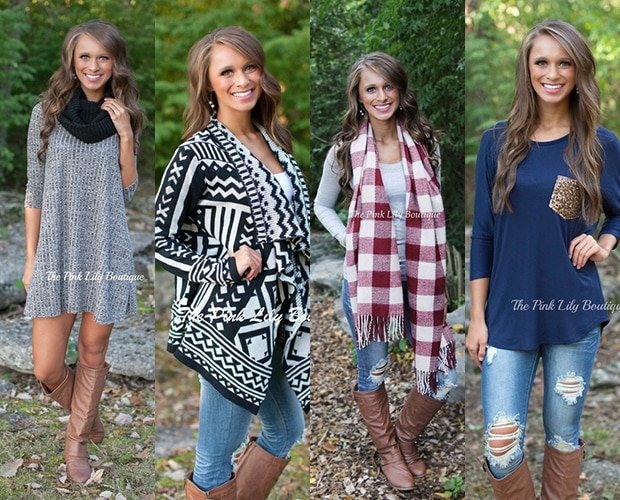 Fall fashion from The Pink Lily Boutique