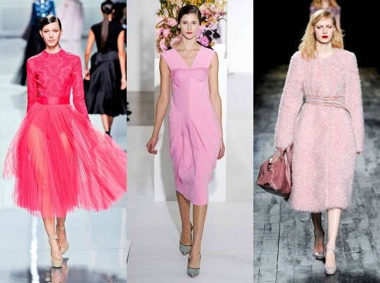 Pink on the fall 2012 runway