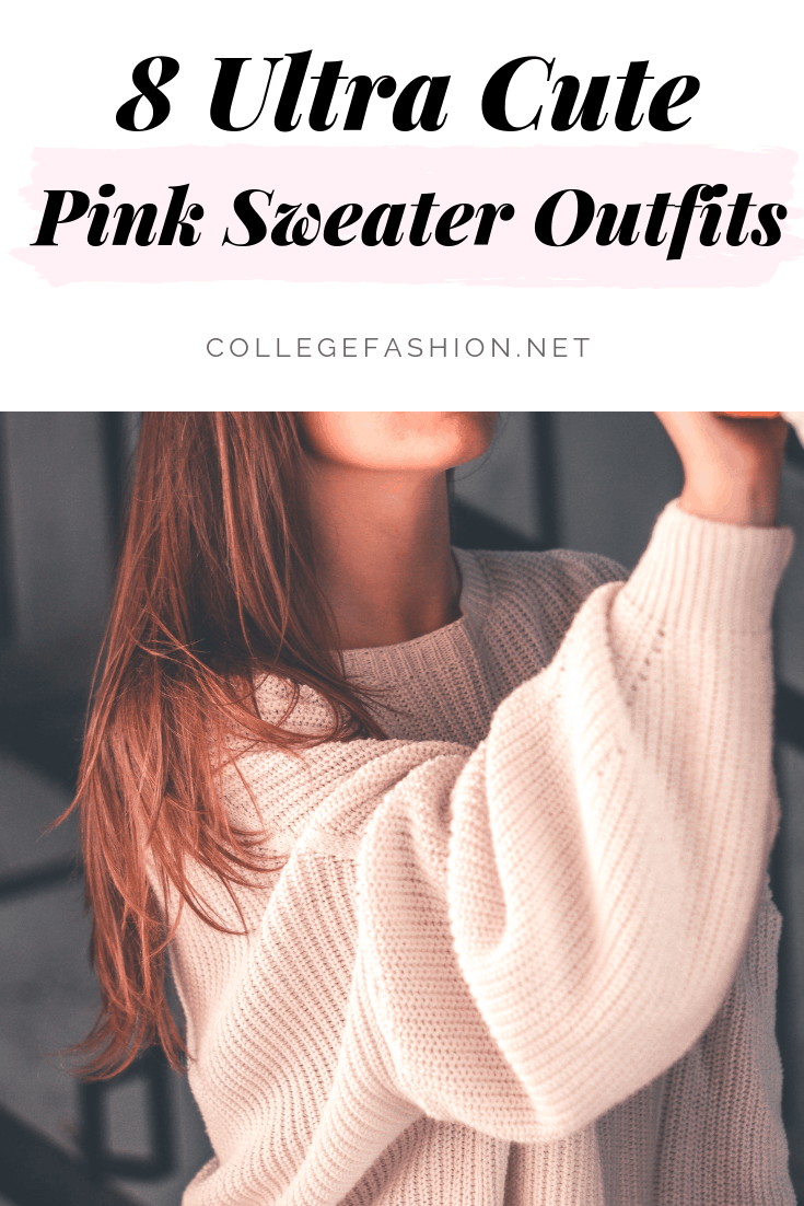 Pink sweater outfits