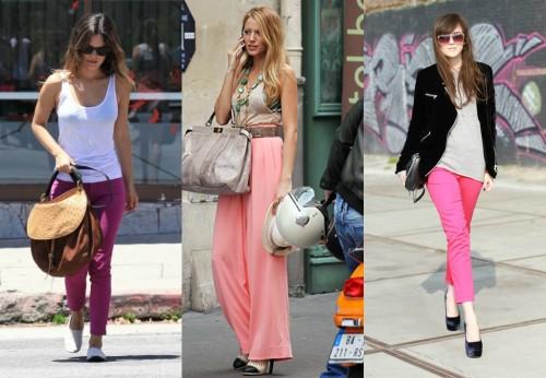 Pink Pants Celeb Style