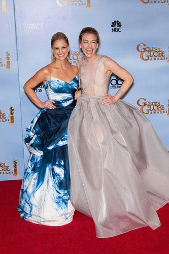 Piper Perabo in Theyskens' Theory at the 2012 Golden Globe Awards