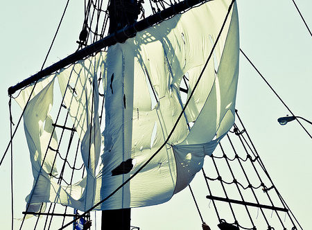 Pirate ship sail