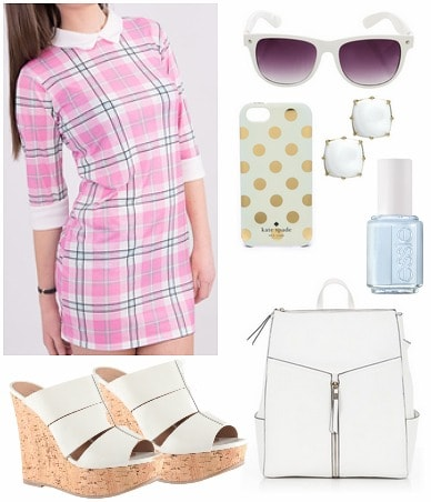 Plaid back to school outfit