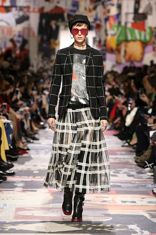 The plaid fashion trend seen at Christian Dior Fall 2018