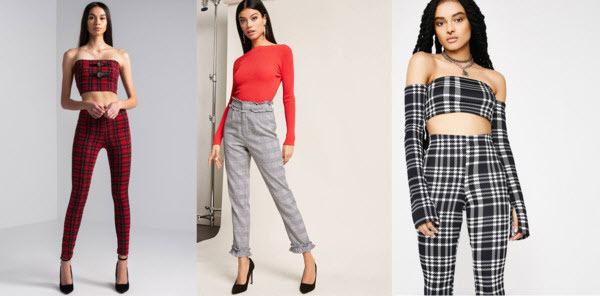 Plaid pants products from shopakira, forever 21, and dolls kill.