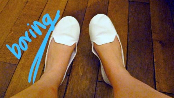 Plain slip-ons for diy