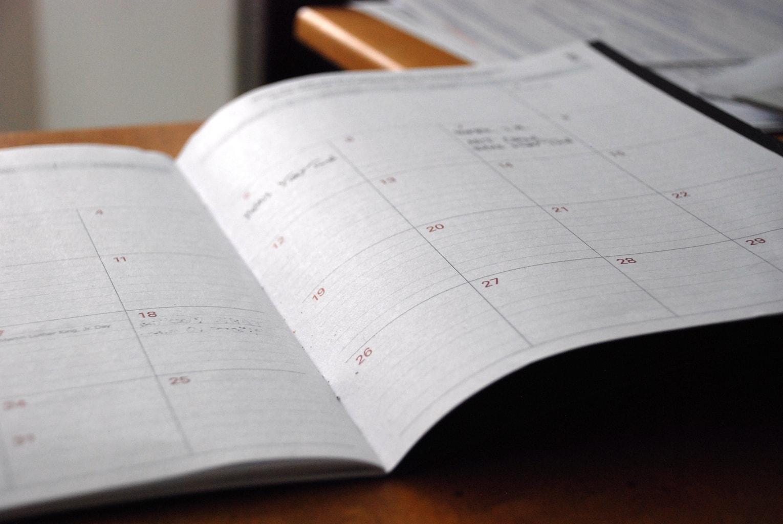 Planner notebook.