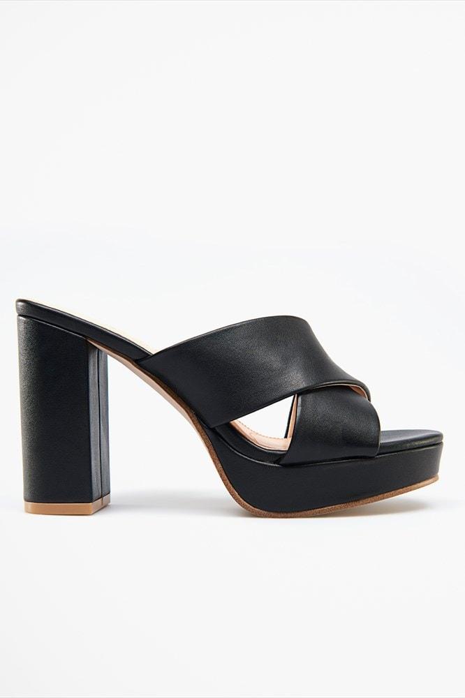 Platform mule sandal