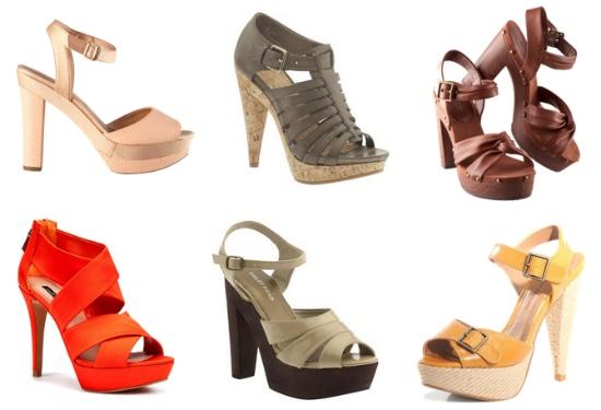 Platform sandals under
