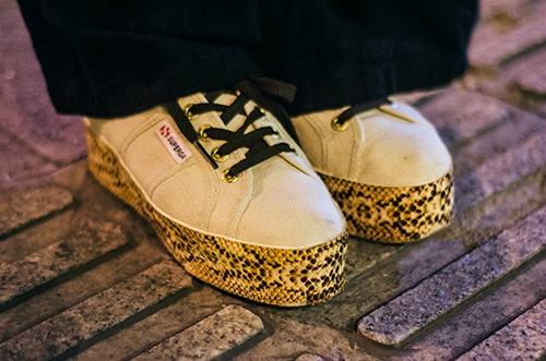 Platform sneakers Yale street style