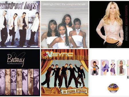 Old school pop album covers
