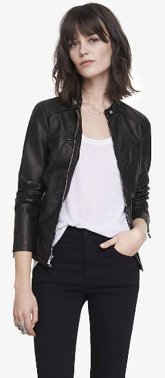 faux-leather jacket from Express