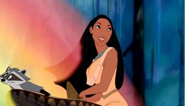 Disney's Pocahontas and her raccoon friend
