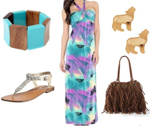 Colorful outfit inspired by Pocahontas'
