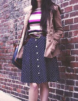 Point park university fashion trends - polka dot skirt