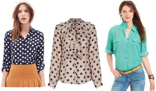 polka dot blouses