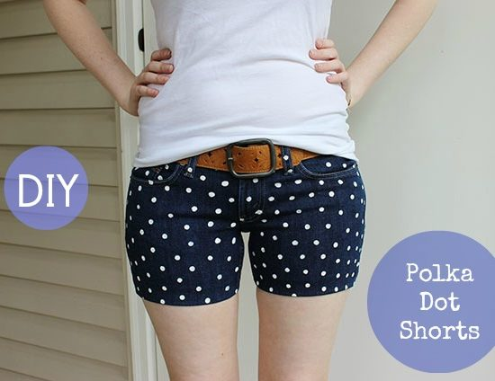 Polka dot shorts diy