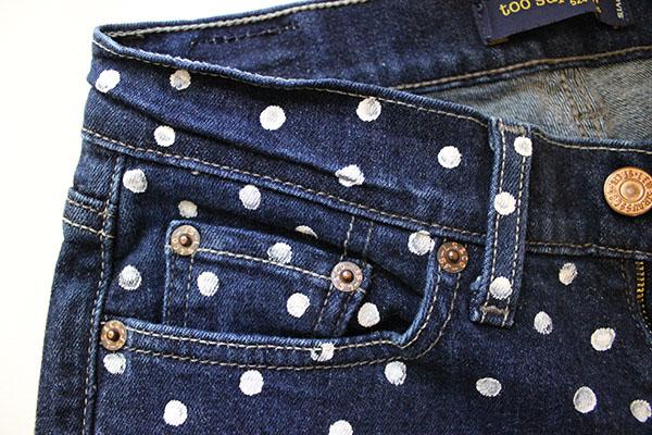 Polka dot shorts diy step three copy