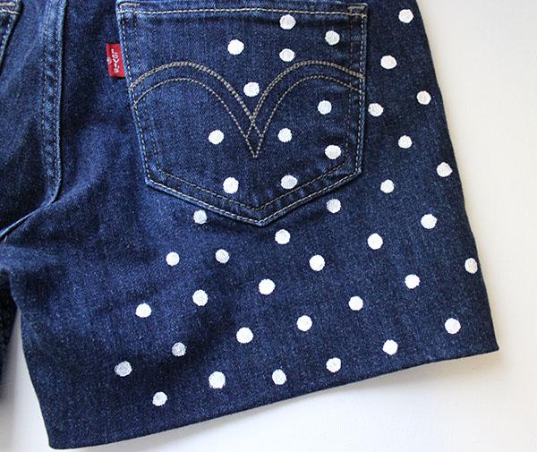 Polka dot shorts step four copy