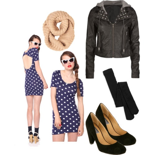How to wear polka dots for a night out