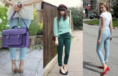 Polka Dot Pants Street Style