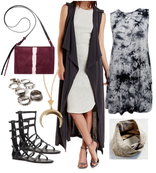 Polyvore grey draped trench vest revised