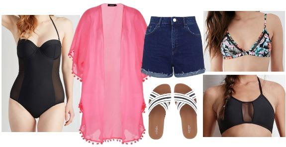 mesh swimwear outfit