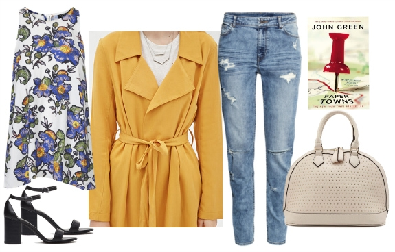 Polyvore mustard draped trench coat revised