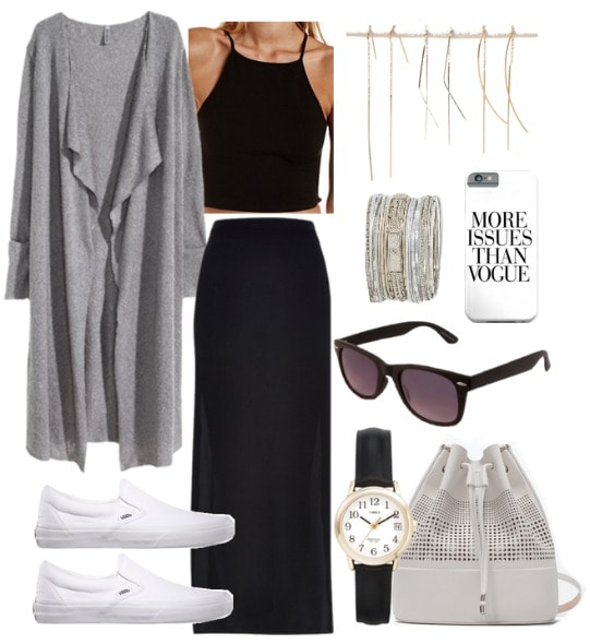 Polyvore perforated white bucket bag outfit