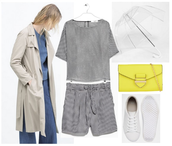 Polyvore tan draped trench coat revised