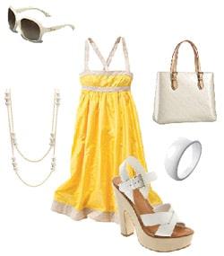 JCrew dress , Jessica Simpson shoes , Promod bangle , Louis Vuitton purse , Dior sunglasses , Mastoloni necklace