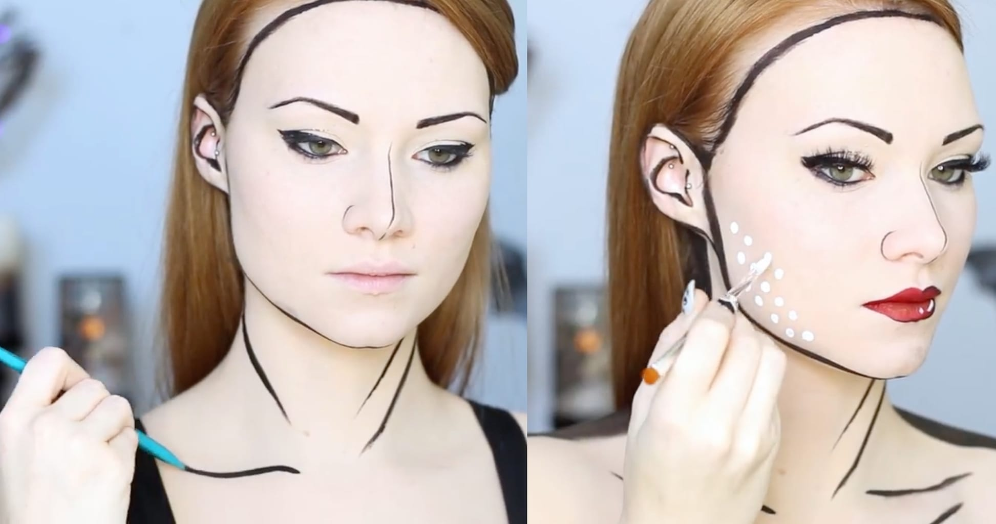 Easy Halloween makeup ideas: Pop art makeup tutorial
