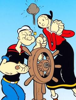 Popeye and olive oyl