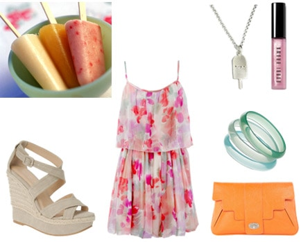 Popsicle-inspired outfit