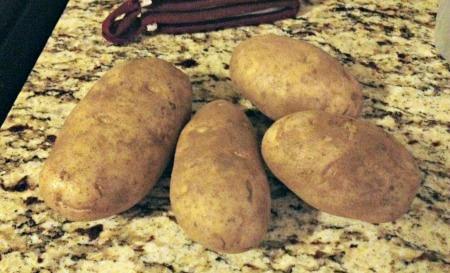Potatoes on counter