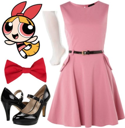 Outfit inspired by Blossom from the Powerpuff Girls