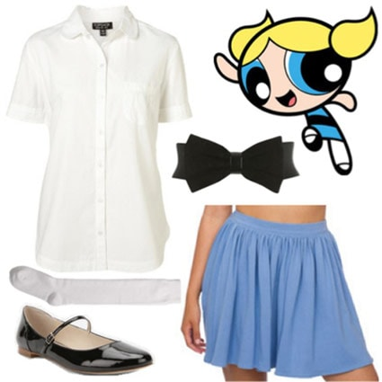 Outfit inspired by Bubbles from the Powerpuff Girls