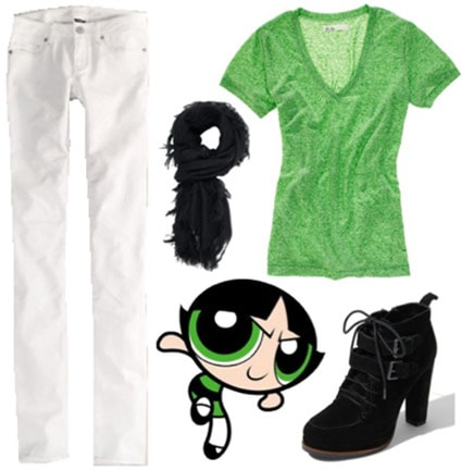 Outfit inspired by Buttercup from the Powerpuff Girls
