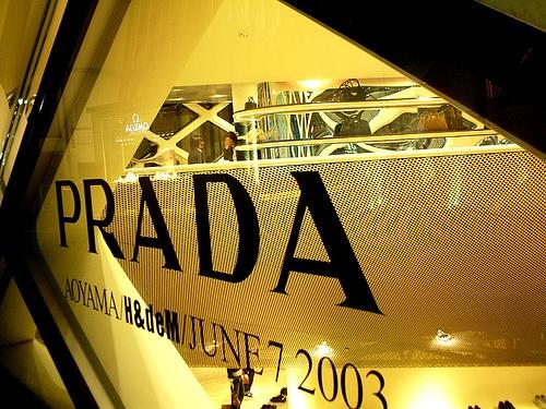 Prada Boutique window